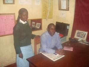 Eunice in the head teacher's office